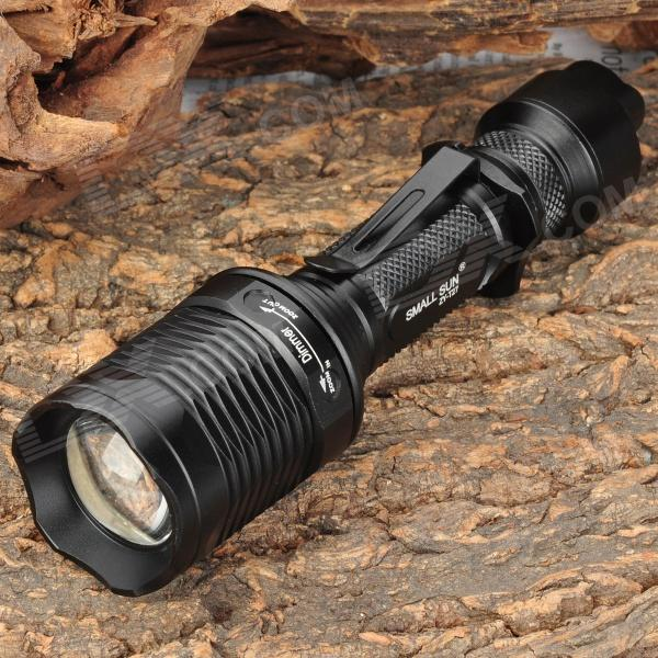 SmallSun ZY-T27 685lm 5-Mode White Light Zooming Flashlight - Black (1 x 18650)