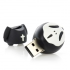 Creativa Sorcerer estilo USB 2.0 Flash Drive USB - Negro + Blanco (8GB)