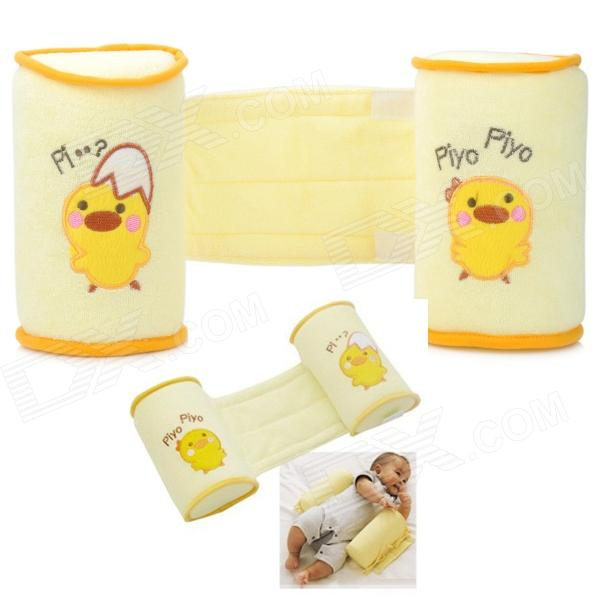 Buy Baby Anti Roll Sleep Positioner Cotton Pillow - Yellow with Litecoins with Free Shipping on Gipsybee.com