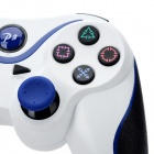 Dualshock Wireless Bluetooth V3.0 Controller for Sony PS3 PlayStation 3 - White + Blue