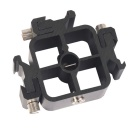 "1/4"" Screw Tripod to 3-Hot Shoe Adapter Holder - Black"