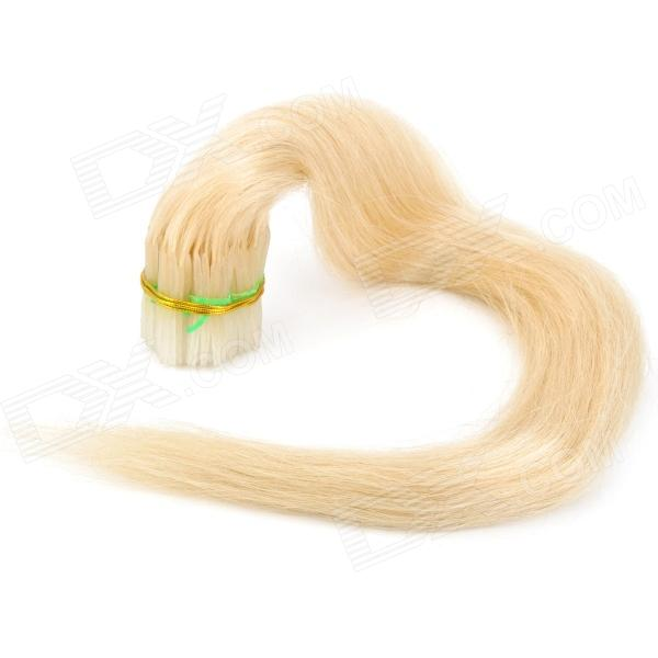 Real Human Straight Fusion Hair Extensions White 55cm 200