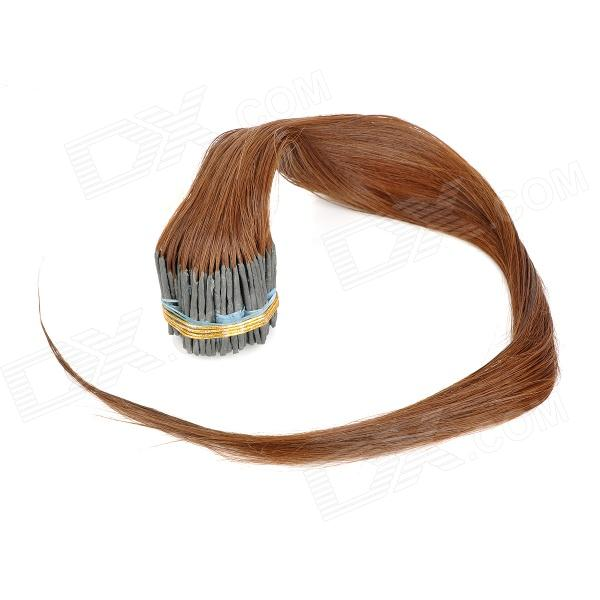 Real Human Hair Straight Fusion Hair Extensions Chestnut Brown
