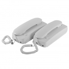 Wired-Intercom-Telephone-System-with-Wall-Mount-White-(2PCS)
