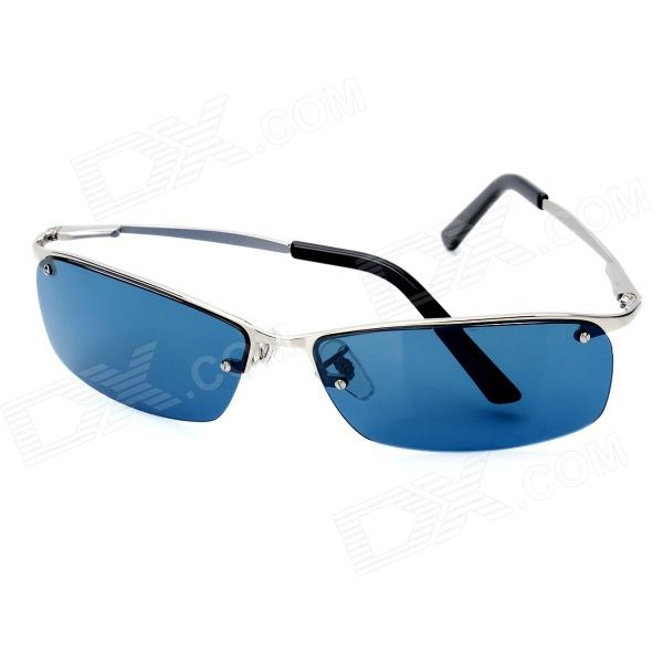 3128c854df ... OREKA 3187 Outdoor Sport UV400 Protection Blue Lens Polarized  Sunglasses - Silver ...
