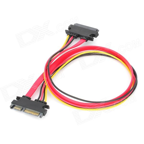 SATA 7+15P Male to Female Data Cable - Red + black (45cm)Computer Cable&amp;Adapter<br>Form  ColorBlackMaterial:Transmission Rate5Packing List<br>