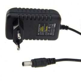 AC to DC 12V 1A Power Adaptor EU Plug - Black (110~240V)