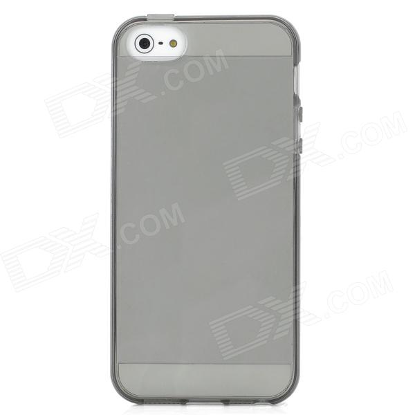Protective Silicone Back Case for Iphone 5 - Dark Grey
