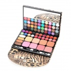 Leopard Pattern Case Professional 72-in-1 Cosmetic Makeup Kit - Yellow + Black