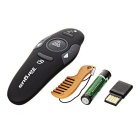 RF008 Wireless Red Laser Presenter w/ Receiver - Black (1 * AAA)