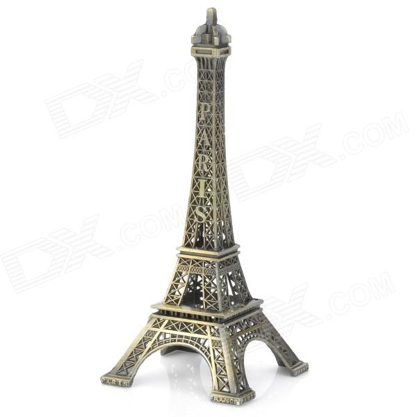 Paris Eiffel Tower Display Model Home Office Desk Decoration - Copper