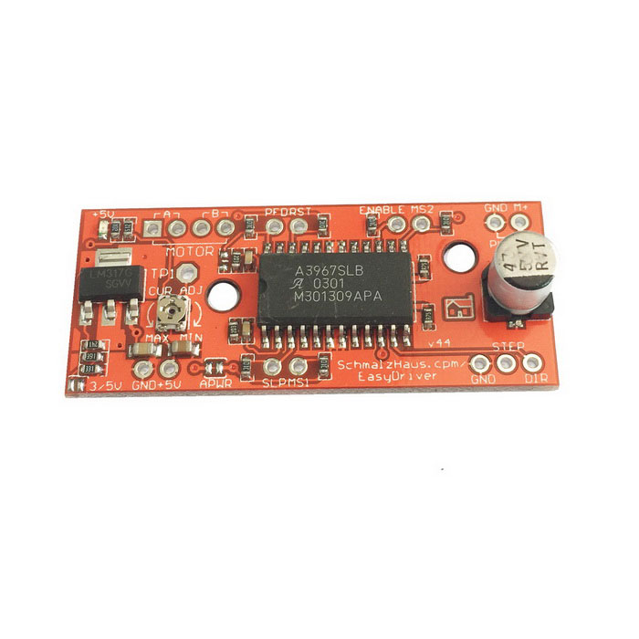 EasyDriver V4.4 Stepper Motor Driver Board for Arduino (Works with Official Arduino Boards)Boards &amp; Shields<br>Model:Form  ColorRedMaterial:Packing List<br>