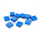 3296 High Precision 104 100k Ohm Variable Resistor Potentiometer Trimmers - Blue (10 PCS)