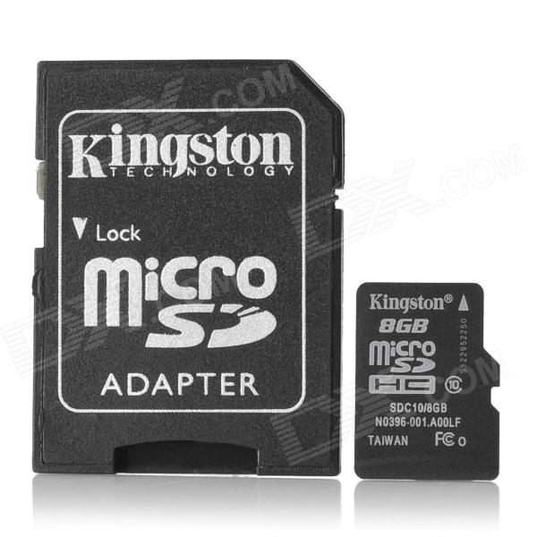 Kingston Micro SDHC / TF Memory Card w/ SD Adapter (8GB / Class 10) for sale in Bitcoin, Litecoin, Ethereum, Bitcoin Cash with the best price and Free Shipping on Gipsybee.com
