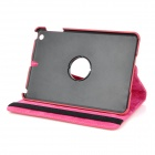Stylish 360 Degree Rotating Protective PU Leather Case for Ipad MINI - Red