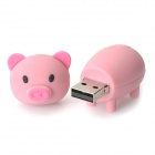 Karikatyr gris stil USB 2.0 Flash Drive - rosa (16GB)