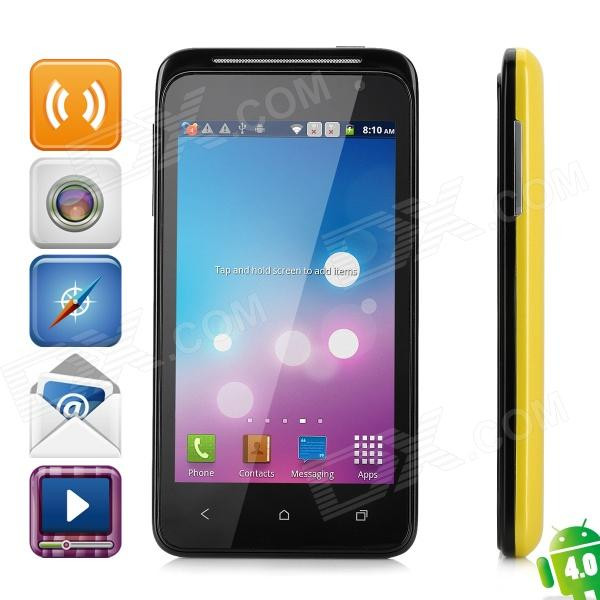 "DAXIAN G20 Android 4.0 GSM Cellphone w/ 4.0"" Capacitive Screen, Quad-Band and Wi-Fi - Yellow"