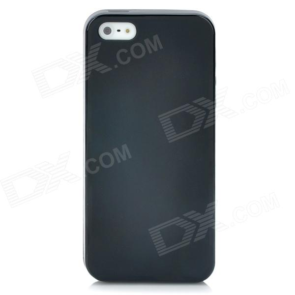 Protective Matte Frosted Plastic Back Case for Iphone 5 - Black