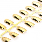 24-in-1 Electroplating ABS Artificial Nail Set - Golden