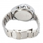 WEIDE WH1102-2 Water Resistant Stainless Steel Dual Display Wrist Watch for Men- Silver (1 x SR626)