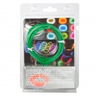 Waterproof Decorative EL Cold Light Flexible Cable w/ Drive - Green (3m / 2 x AA)