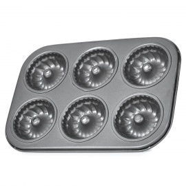 Hollow-Center-Round-Shaped-Cake-Maker-DIY-Mould-Tray-Dim-Grey