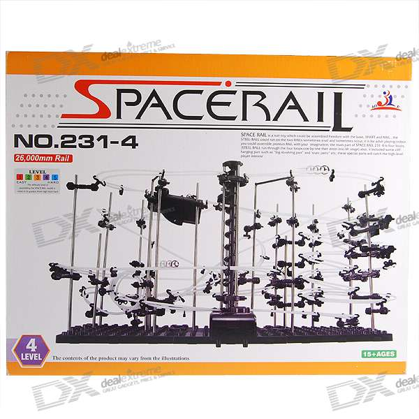 Spacerail DIY Physics Space Ball Rollercoaster con Ascensor Powered (26000mm Rail)