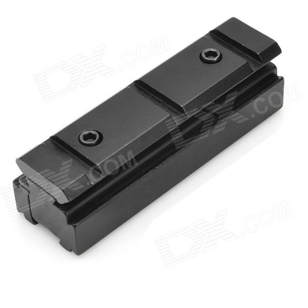Aluminum Alloy 11mm to 20mm Rail Scope Mount Base Adapter - Black