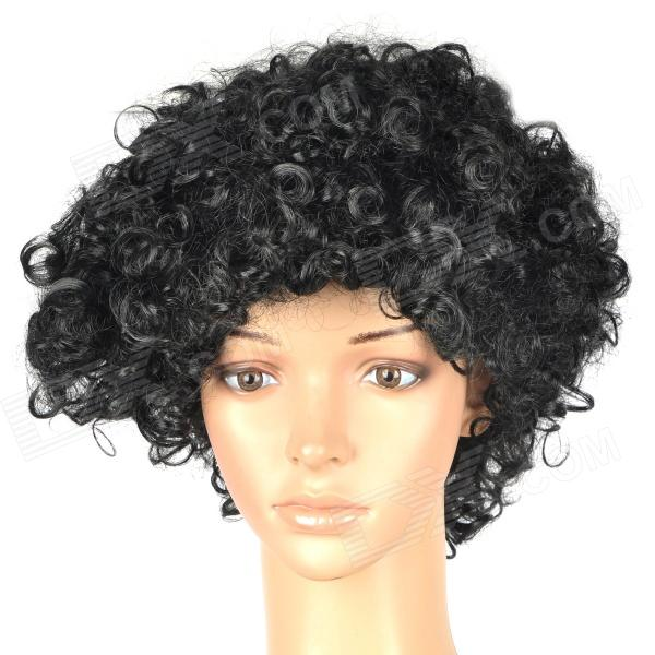 Buy Stylish Explosion Head Short Curly Hair Wig for Costume Party / Halloween - Black with Litecoins with Free Shipping on Gipsybee.com