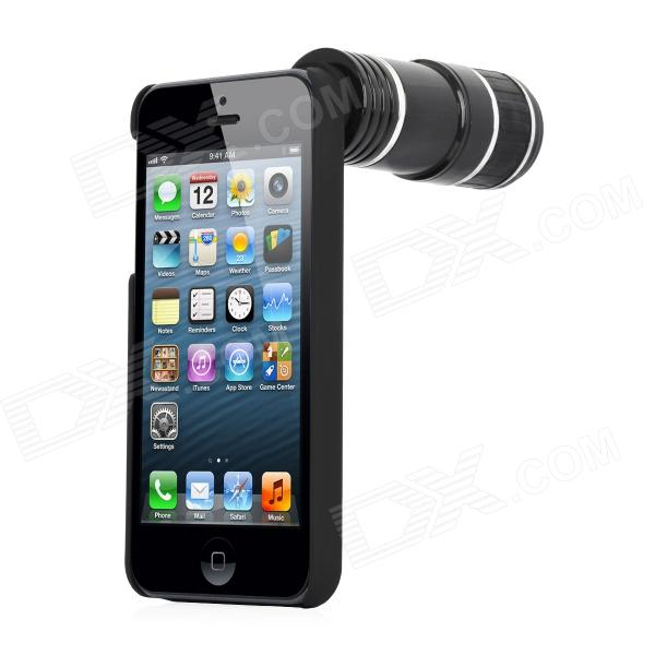 iphone telephoto lens cheap detachable 12x telephoto lens set for iphone 5 black 6459