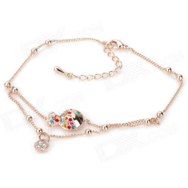 KCCHSTAR BK-104 Fish Shaped Zinc Alloy Bracelet - Golden