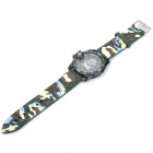 Outdoor Sports Skull Knife Silicone Band Quartz Analog Wrist Watch - Camouflage + Black