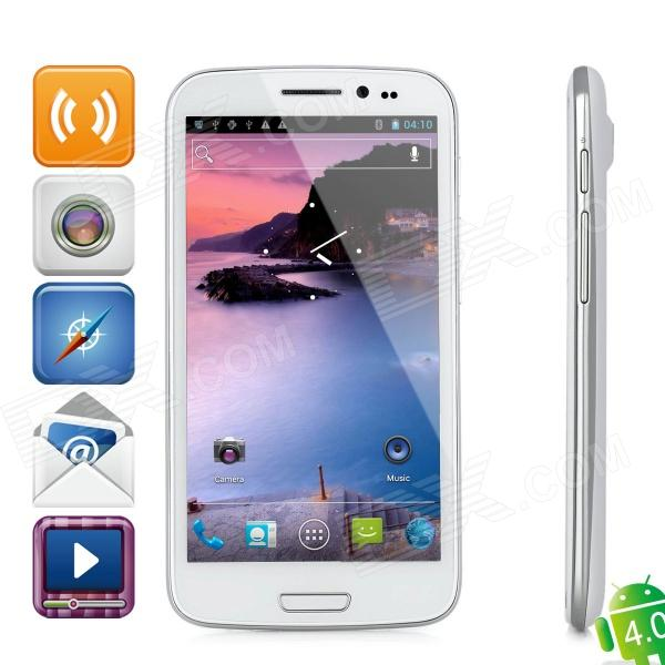 "ZOPO ZP900S Leader Android 4.0 WCDMA Smartphone w/ 5.3"" Capacitive Screen, Wi-Fi and GPS - White"