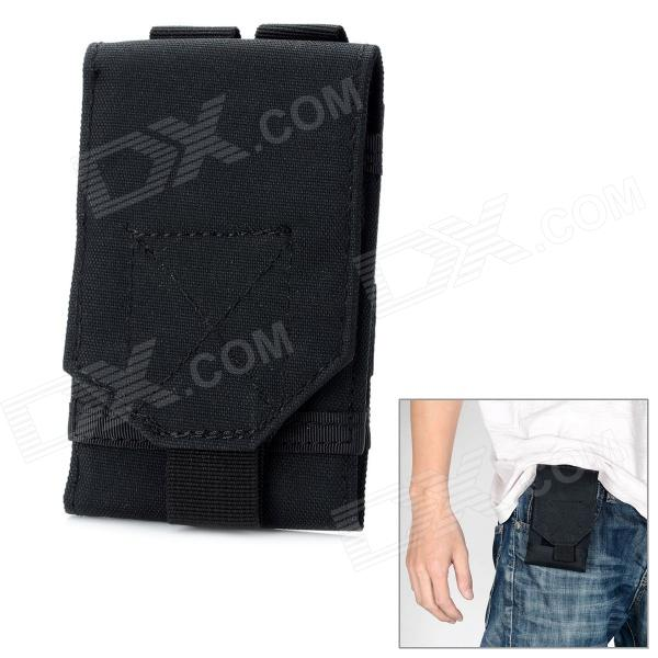 Outdoor Waterproof Fabrics Mobile Phone Carrying Bag / Pouch for War Game / Mountaineering - BlackWaterproof Cases<br>ModelsAppleQuantity1MaterialWaterproofForm  ColorBlackWaterproof LevelOthersCompatible ModelsAppleTouch Control via CaseOthersOther FeaturesWithPacking List<br>