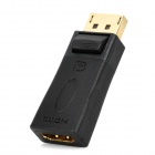 DisplayPort Male to HDMI Female Adapter - Black + Golden