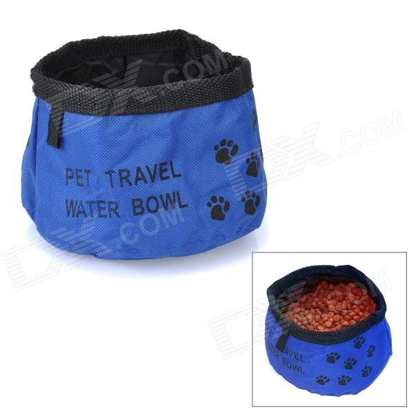 Portable Traveling Food Feeder / Water Bowl for Pet - Blue (1000ml)