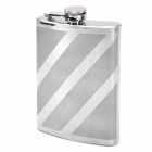 Honest-Outdoor-Portable-Stainless-Steel-Liquor-Flask-with-Funnel-Silver-(8oz)