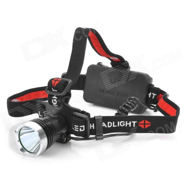 Raysoon T6-1 600lm 3-Mode White Light Headlamp - Black (1*18650/3*AAA)