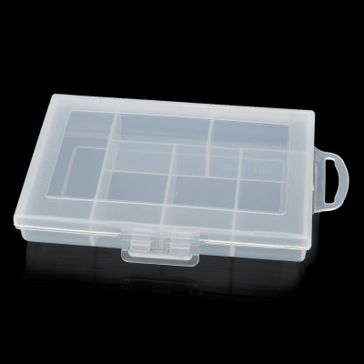 E108 6-Compartment Plastic Storage Box - Translucent White