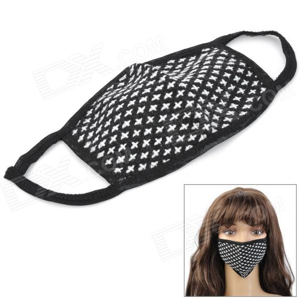 ZZ301 Protective Yarn Mouth Mask - Black + White