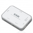 SSK-SCRM056-USB-30-5Gbps-High-Speed-Multifunctional-Card-Reader-White-2b-Silver-Grey-(Max-64GB)