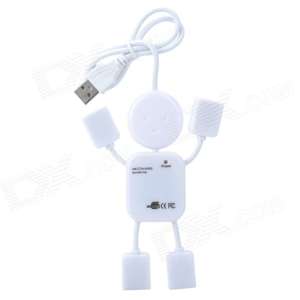 Cute USB 2.0 4-Port Hub