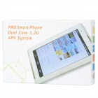 "P5100 Android 4.0 WCDMA Bar Phone w/ 7.0"" Capacitive Screen, Wi-Fi, TV, GPS and Dual-SIM - White"