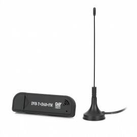 RTL2832U + FC0012 Mini DVB-T + DAB + + FM USB Dongle TV Digital-Preto