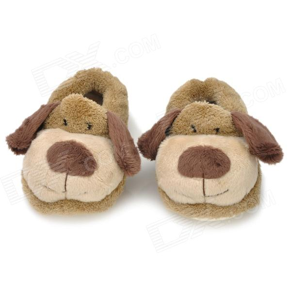 Cute Dog Shaped Baby Cotton Polyester Anti Skid Warm Shoes Grey