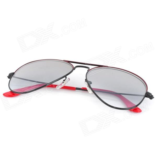 3c39f4bbbe ... OREKA 1025 Optical Glass Lens Nickel Alloy Frame UV400 Protection  Sunglasses Goggles - Black + Red ...