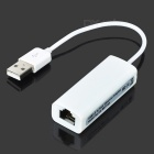 USB Male to RJ45 Ethernet Network Adapter Dongle for Android PC- White
