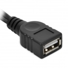 Micro USB Male / USB Male to USB Female OTG Cable - Black (30cm)