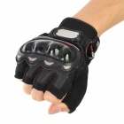 PRO-BIKER MCS-04 Motorcycle Racing Half-Finger Protective Gloves - Black (Size XL / Pair)