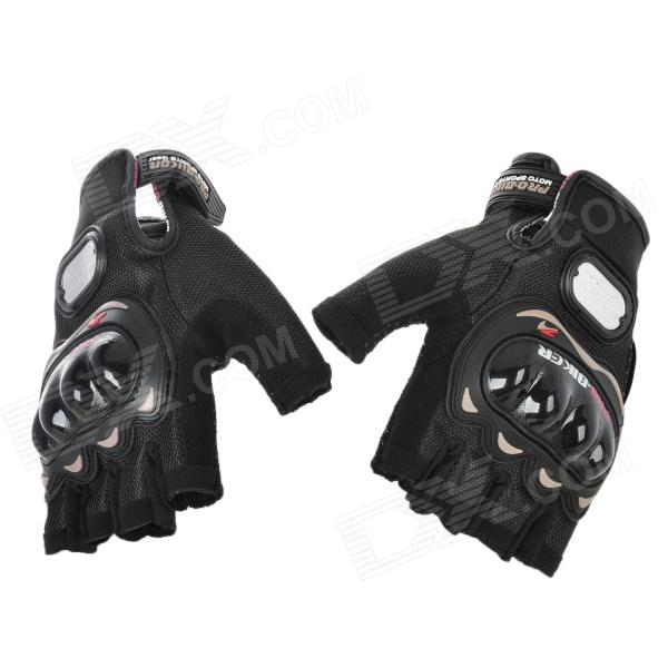 PRO-BIKER MCS-04 Motorcycle Racing Half-Finger Protective Gloves - Black (Size L / Pair)Motorcycle Gloves<br>ModelMCSQuantity2MaterialSuperfineForm  ColorBlackTypeGlovesSizeSHand Around20~21Palm Width&amp;ltOther FeaturesMadePacking List<br>